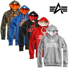 Alpha Industries Men's Hoody Hoodie Foam Print Pullover with Hoodie S to 3XL