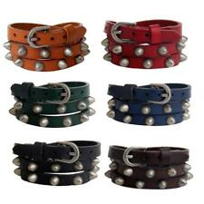 Cool Rivet Spike Punk Multi-layer PU Leather Bangle Cuff Bracelet Wristband