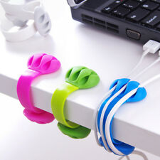 Multipurpose Wire Cord Cable Tidy Holder Drop Clips Organizer Line Fixer Winder(