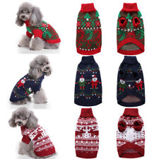 Pet Puppy Cat Dog Winter Clothes Christmas Costumes Knitted Sweater Hoodies