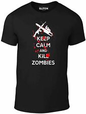 Reality Glitch Men's Keep Calm And Kill Zombies T-Shirt.