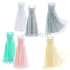 Flower Girls Kids Lace Tulle Dress Pageant Princess Wedding Birthday Party Gown