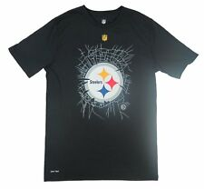 NFL - NWT Pittsburgh Steelers Broken Glass Youth Black T-Shirt - Youth S, L, XL