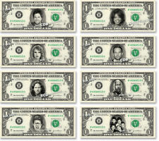 Celebrity on REAL Dollar Bill Money Cash Collectible Memorabilia Novelty Bank W3