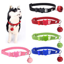 Adjustable Cute Cat Buckle Pet Puppy Collar Neck Leads Necklace Bell For Cat Dog