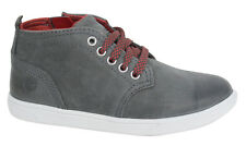 Timberland Groveton Leather Lace Up Chukka Boots Side Zip Toddlers A16YB U11