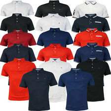 Tommy Hilfiger Golf Short Sleeve Plain Pique Mens Polo Shirt Top Tee