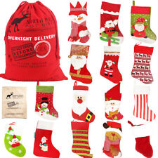 Large Christmas Stocking Santa Kids Gift Sack Socks Bags Decorations Red Xmas
