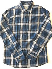 Abercrombie by Hollister Mens NWT Blue Plaid Indigo Dye Button Down Shirt Medium