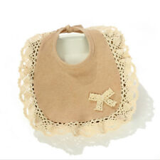 Cotton Bibs Saliva Towel Toddler Kid Baby Infant Feeding Lace Bibs