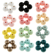 30pcs Round Ball Wood Spacer Beads DIY Crafts Jewelry Making 14MM Loose Bead
