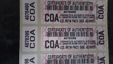 Certificate of Authenticity COA Security Labels with Separate Side Sticker Seals