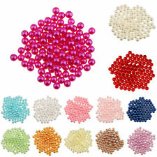 150x Imitation Pearl No Hole ABS Plastic Loose Beads Charm DIY Bead Finding