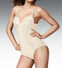 NWT 34C  NUDE MAIDENFORM EMBELLISHED FIRM CONTROL BRIEFER SHAPER SUIT  2304 $64