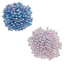 300Pcs 5mm Hot Round Imitation Pearl ABS Plastic DIY Loose Beads Findings