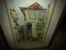 PATRICIAN PALACE LITHOGRAPH VNTG.  COLORFUL FRAMED MATTED ARTIST SIGNED ITALY