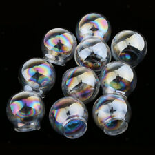 10pcs Glass Balls DIY Charms Pendants Round Jewelry Craft Ornaments Openable