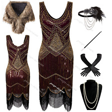 Sexy Womens 1920s Costume Flapper Gatsby 20s Party Prom Evening Cocktail Dress