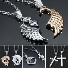 New Couple Stainless Steel Heart Pendant Necklace Mother's Day Gift Lady Jewelry