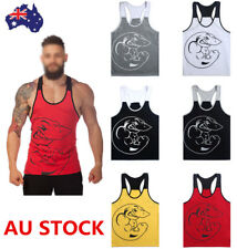 Men's Gym Sleeveless Vest Shirt Tank Tops Muscle Bodybuilding Muscle Sportswear