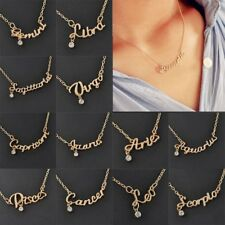 Couple Charm Zodiac Guardian Star Clavicle Chain Letters Pendant Necklace Gift