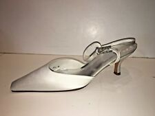 Stuart Weitzman White Closed Toe Strappy Womens Evening Shoes Heels Size 8.5M