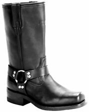 Xelement 1442 Classic Harness Motorcycle Full Grain Leather Biker Boots