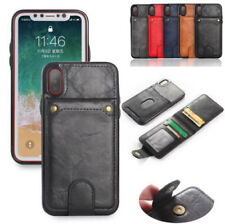 Luxury Flip PU Leather Card Slot Removable Stand Cover Case For iPhone X 8 7 6S