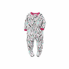 NWT ☀FOOTED FLEECE☀ CARTERS Girls Pajamas PENGUIN  New YOU PICK  3T 4T