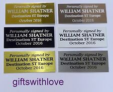Engraving plate plaque free engraving 70mm x (your choice height)