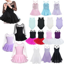 Kids Girls Ballet Tutu Dress Gymnastics Leotard Skirt Party Dance Wear Costumes