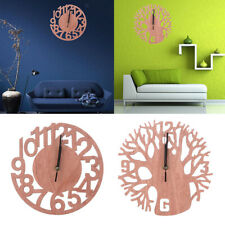 3D Wooden Tree Wall Clock DIY Modern Watches Office Home Living Room Decoration