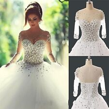 New White Wedding Dress Bride Gown uk stock Size 6-8-10-12-14-16-18