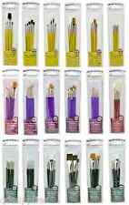 ARTIST PAINT BRUSH SETS OIL WATERCOLOUR & ACRYLIC PAINTING IN ZIP CLOSE POUCHES