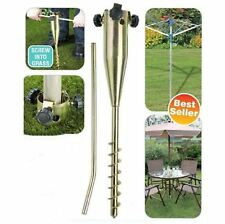 Metal Ground Spike Heavy Duty Garden Parasol Umbrella Airer Holder Stand Base