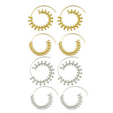 Boho Statement Spiral Earring Circles Round Tribal Hoop Earring Lady Jewelry