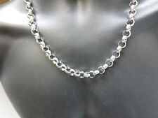 16 INCH TO 84 INCH STAINLESS STEEL SILVER 10MM ROLO ROPE CHAIN NECKLACE