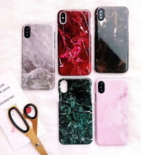 Luxury Marble Granite Glossy Phone Case for Iphone 6 6S 7 8 Plus X Hard PC Cover