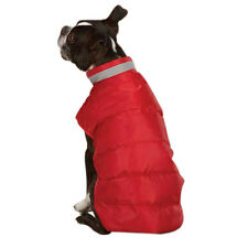 Dog Puppy Jacket - Casual Canine - North Paw Puffy Reflective Vest - Red XS
