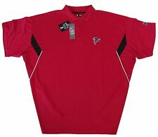 Atlanta Falcons NFL Mens Big & Tall Sideline Team Polo Shirt - Red-NWT