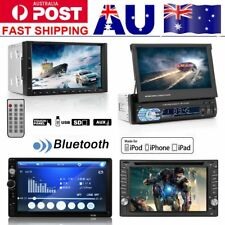 "7"" 2 DIN Car DVD Player In-dash Radio Stereo Head Unit Bluetooth Touch AUX SD bb"