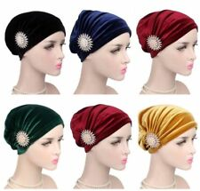 Muslim Woman Velvet Hat Turban Cancer Chemo Indian Hair Loss Cap Headwrap Scarf