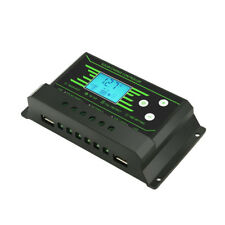 12V 24V Back Light LCD Display PWM Solar Charge Controller with Dual USB 5V