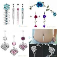 Belly Bar Dangle Reverse Body Piercing Jewellery Rings Navel Belly Bars Exotic