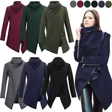 Winter Womens Casual Warm Coat Ladies Slim Collar Jackets Outwear Cardigans Tops