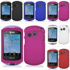 For Pantech Swift P6020 AT&T Colorful Black Rubberized Hard Case Snap On Cover