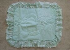 New JCPENNEY Solid Hearts EMBROIDERED Ruffled Standard Pillow Sham SOFT Green