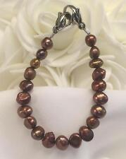 Rose Gold Pearls Medical ID Alert Replacement Bracelet! (MA066)