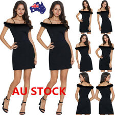 Women Summer Short Sleeve Off Shoulder Bodycon Dress Cocktail Party Mini Dress