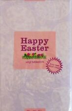 ASST Sizes Happy Easter Lace Butterflies, Flowers, Eggs Vinyl Tablecloth PURPLE